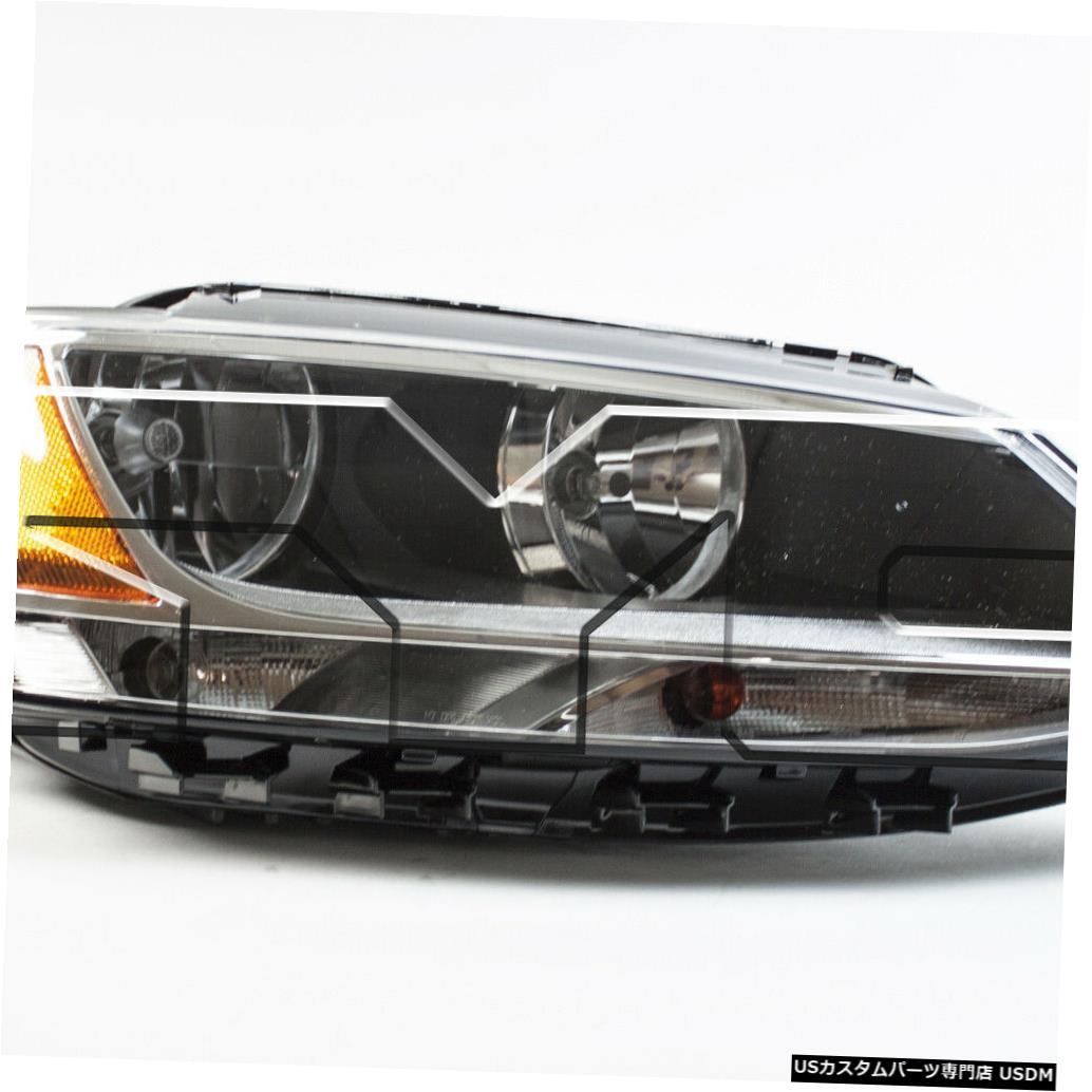 ヘッドライト 11-14フォルクスワーゲンジェッタハロゲン右助手席ヘッドライトヘッドランプNSF 11-14 Volkswagen Jetta Halogen Right Passenger Headlight Headlamp NSF