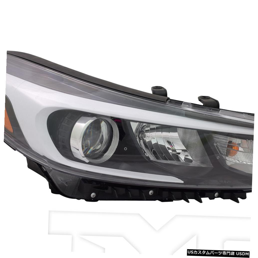 ヘッドライト 17?18のKia Forte 5ハロゲン(LED位置なし)に適合助手席ヘッドライトNSF Fits 17-18 Kia Forte 5 Halogen w/o LED Position Right Passenger Headlight NSF