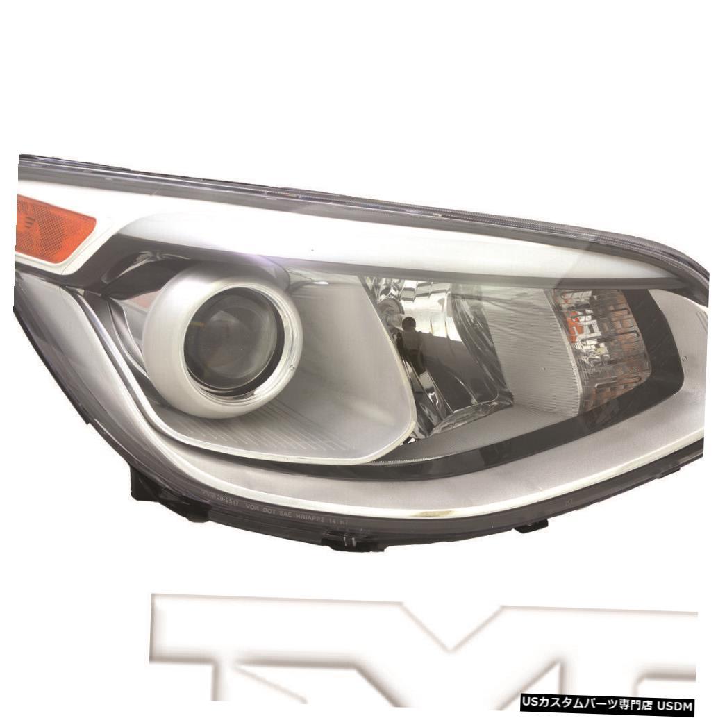 ヘッドライト 14?16のKiaソウルハロゲンプロジェクター右乗客ヘッドライトヘッドランプCAPAに適合 Fits 14-16 Kia Soul Halogen Projector Right Passenger Headlight Headlamp CAPA