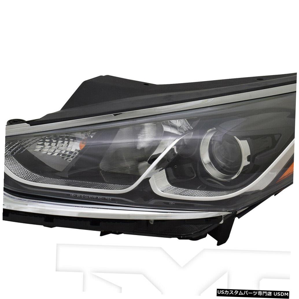 ヘッドライト 18-19ヒュンダイソナタハロゲンヘッドライトフロントランプドライバー左側に適合 Fits 18-19 Hyundai Sonata Halogen Headlight Front Lamp Driver Left Side