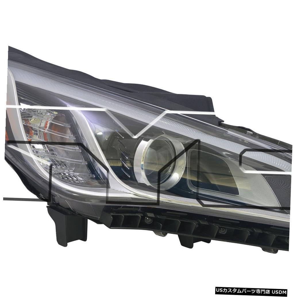 ヘッドライト 15?15ヒュンダイソナタHIDヘッドライトアセンブリフロントランプ助手席右側に適合 Fits 15-15 Hyundai Sonata HID Headlight Assembly Front Lamp Passenger Right Side