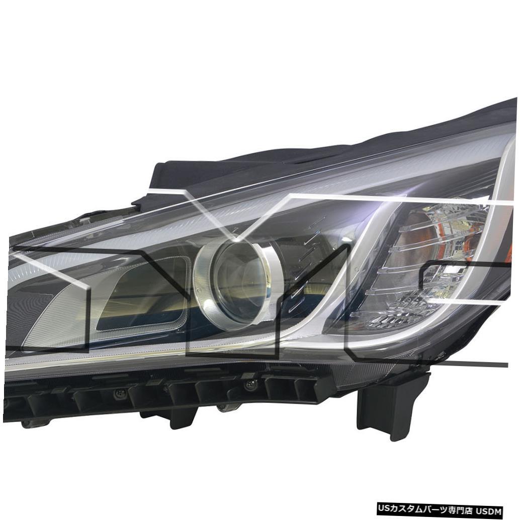 ヘッドライト 15?15ヒュンダイソナタHIDヘッドライトアセンブリフロントランプドライバー左側に適合 Fits 15-15 Hyundai Sonata HID Headlight Assembly Front Lamp Driver Left Side
