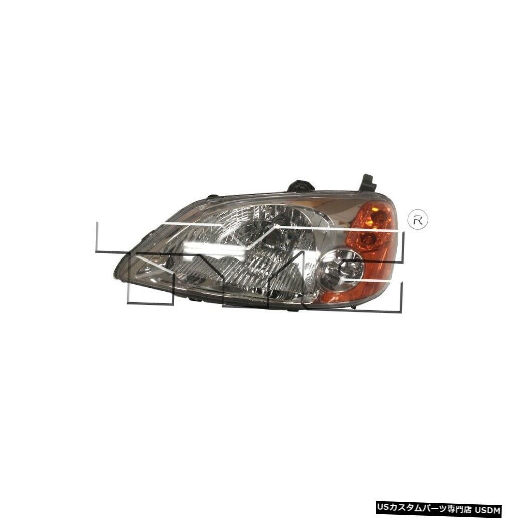 ヘッドライト 01-03ホンダシビックセダンドライバーヘッドライト 01-03 Honda Civic Sedan Driver Headlight