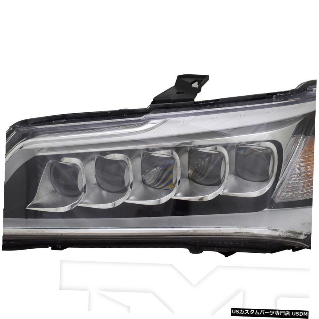 ヘッドライト 14-16 Acura MDX LEDヘッドライトアセンブリフロントランプドライバー左側 14-16 Acura MDX LED Headlight Assembly Front Lamp Driver Left Side