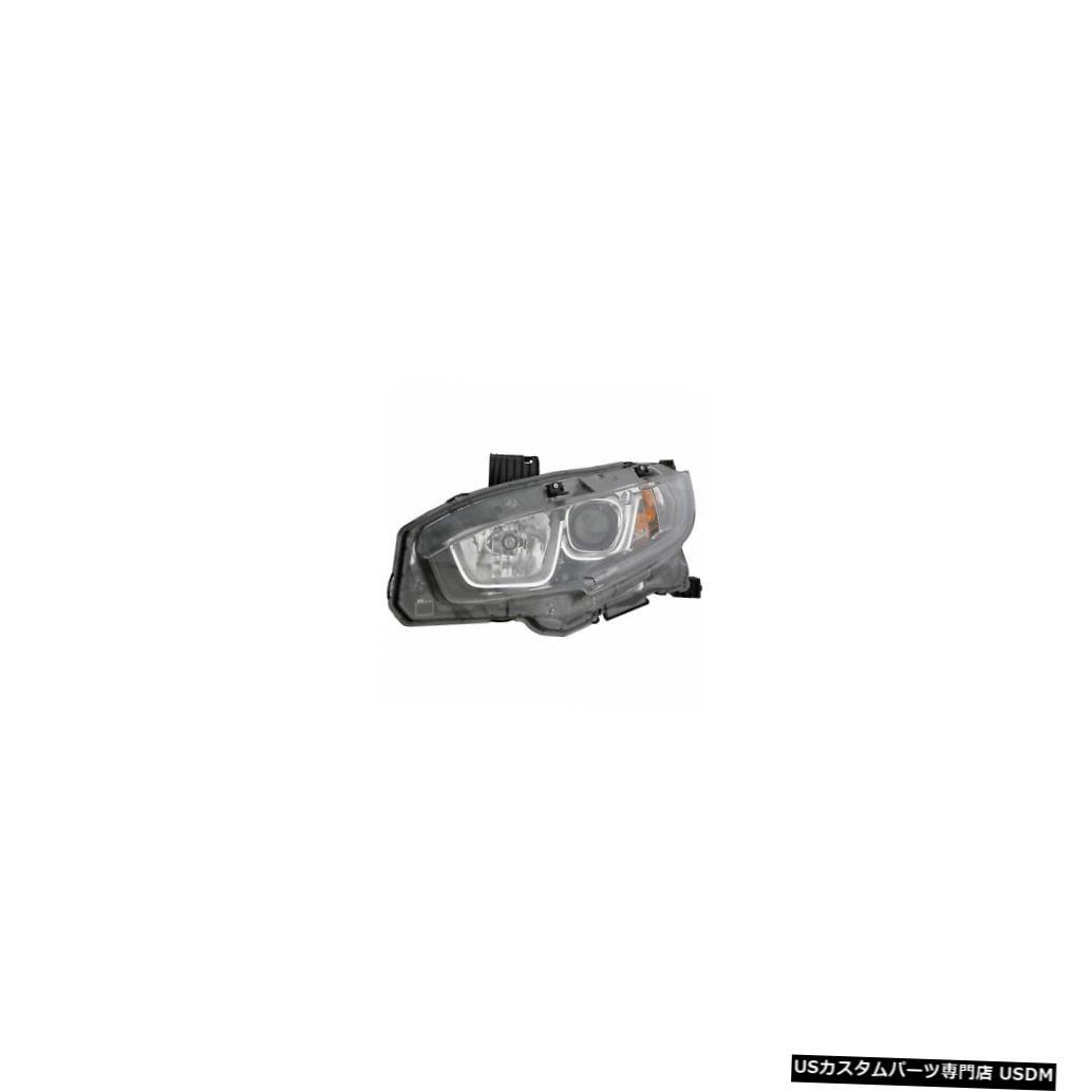 ヘッドライト 2016-2017ホンダシビックセダンドライバー左側ハロゲンヘッドライトランプアセンブリ 2016-2017 Honda Civic Sedan Driver Left Side Halogen Headlight Lamp Assembly
