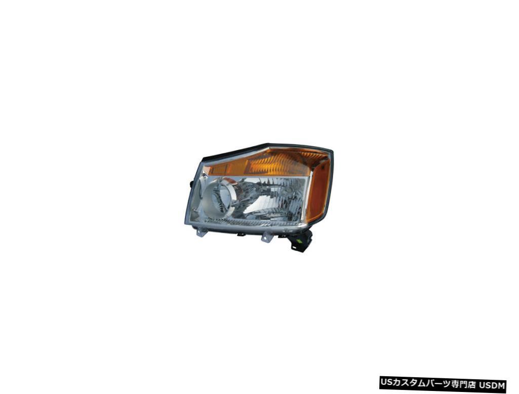 ヘッドライト 2008-2015日産タイタンドライバー左側ヘッドライトランプアセンブリNSFに適合 Fits 2008-2015 Nissan Titan Driver Left Side Headlight Lamp Assembly NSF
