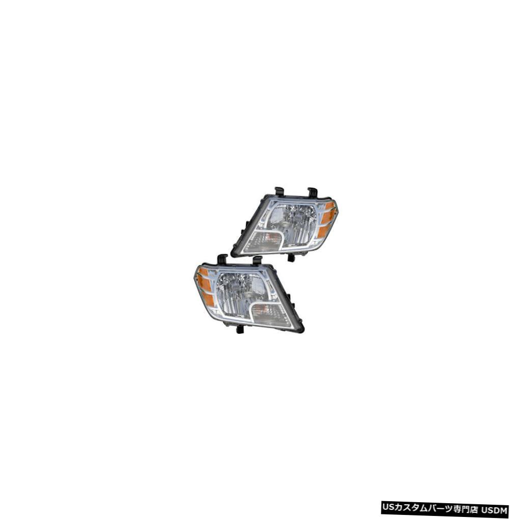 ヘッドライト Fits 2009-2017 Nissan Frontier Driver & Passenger Side Headlights Lamps Pair Set