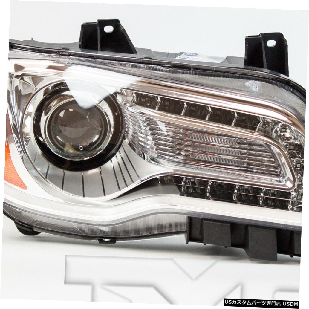 ヘッドライト 11-14 Chrysler 300 Halogen w / Chrome Bezel右助手席ヘッドライトNSF 11-14 Chrysler 300 Halogen w/Chrome Bezel Right Passenger Headlight NSF