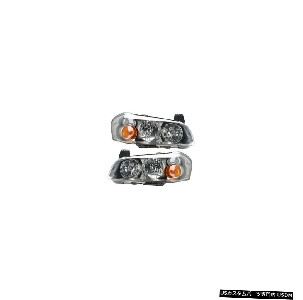 ヘッドライト Fits 02-03 Nissan Maxima Driver & Passenger Headlights Non-HID Lamps Pair Set