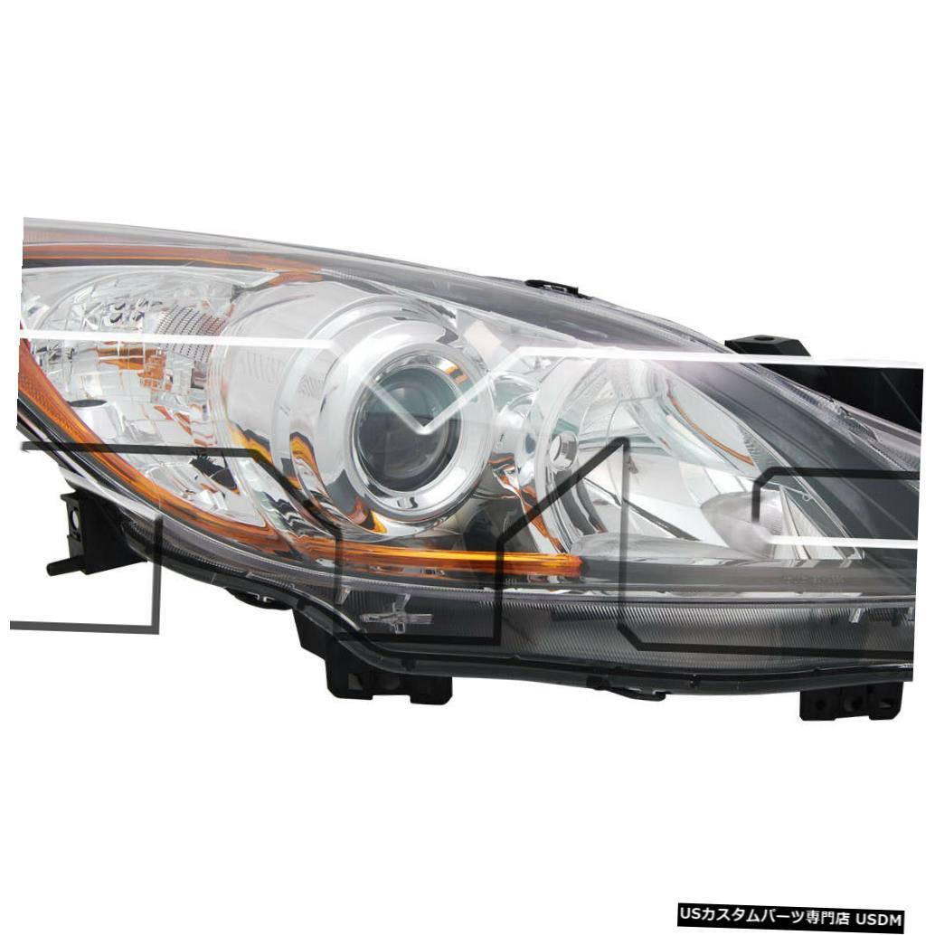 ヘッドライト 10-11マツダ-3ハロゲン/ 12-13 5速トランスミッション乗用車ヘッドライトに適合 Fits 10-11 Mazda-3 Halogen/12-13 5-Speed Transmission Passenger Headlight