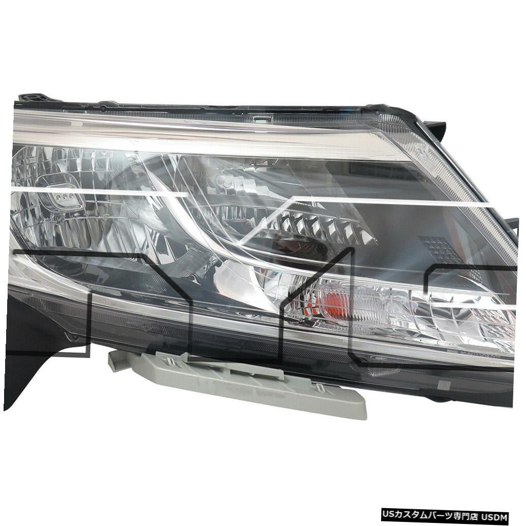 ヘッドライト 13-16日産パスファインダーハロゲン右助手席ヘッドライトヘッドランプCAPAに適合 Fits 13-16 Nissan Pathfinder Halogen Right Passenger Headlight Headlamp CAPA