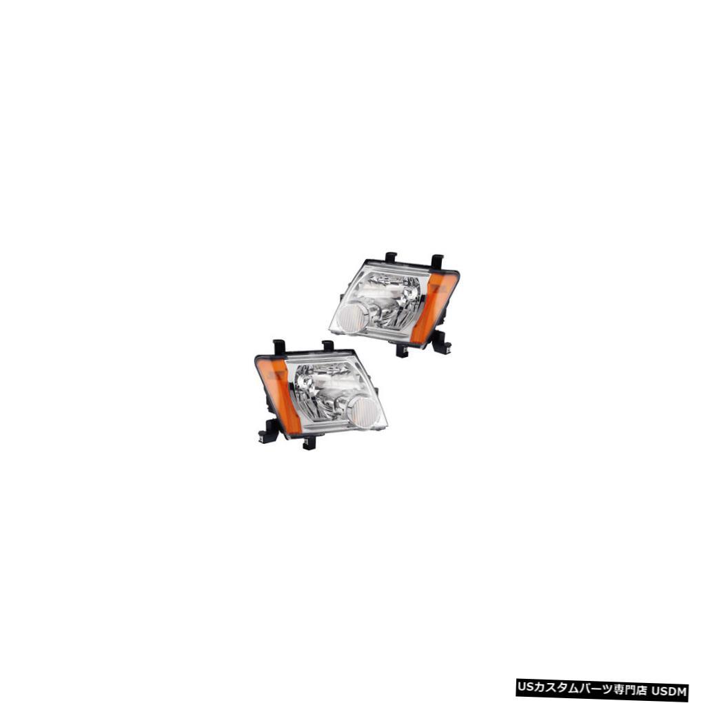 ヘッドライト Fits 2005-2014 Nissan Xterra Driver & Passenger Side Headlights Lamps Pair Set
