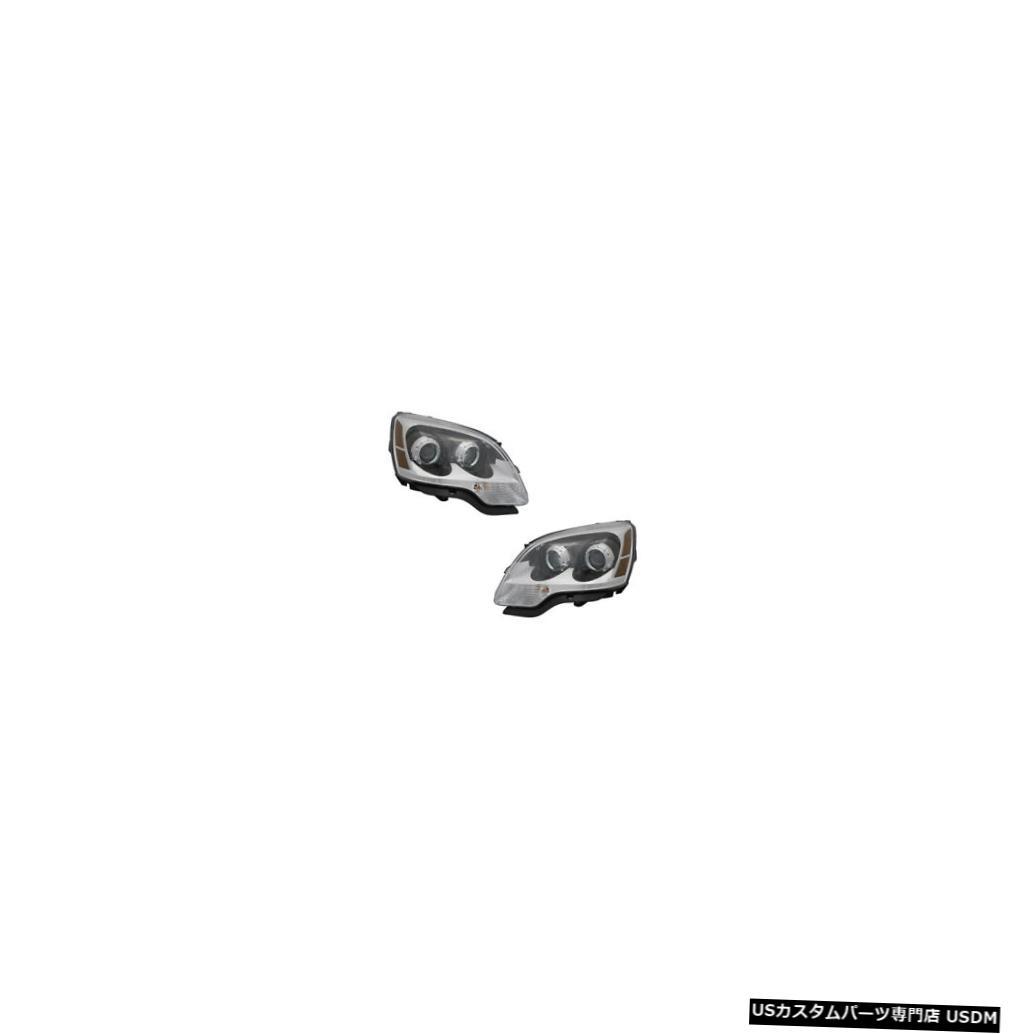 車用品 バイク用品 >> パーツ ライト ランプ ヘッドライト お得セット 2008-2012 GMC Passenger Driver 全店販売中 Halogen Pair Acadia Set Headlights Side Lamps