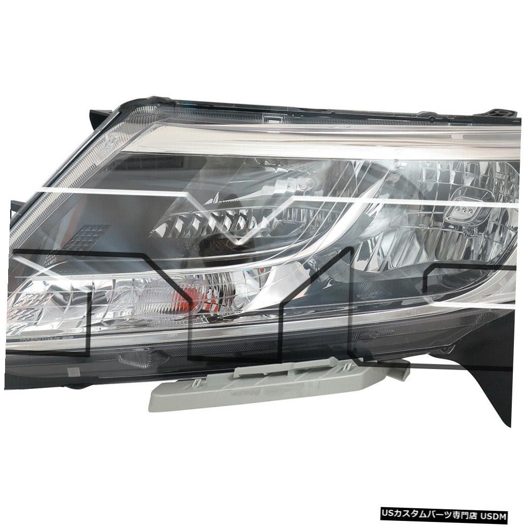 ヘッドライト 13-16日産パスファインダーハロゲン左ドライバーヘッドライトヘッドランプCAPAに適合 Fits 13-16 Nissan Pathfinder Halogen Left Driver Headlight Headlamp CAPA