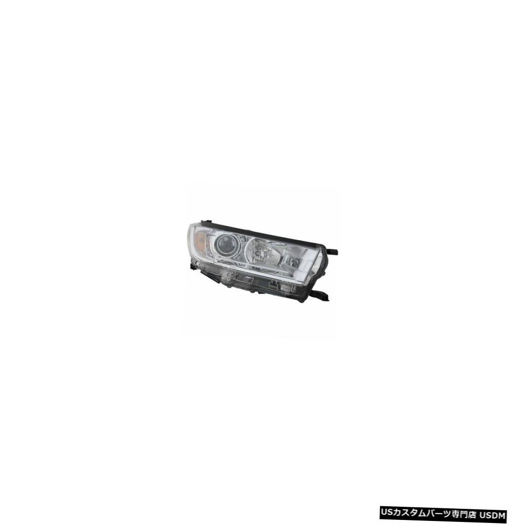 ヘッドライト 2017-2019トヨタハイランダーパッセンジャー右側ハロゲンヘッドライトランプ(DRLなし) 2017-2019 Toyota Highlander Passenger Right Side Halogen Headlight Lamp w/o DRL