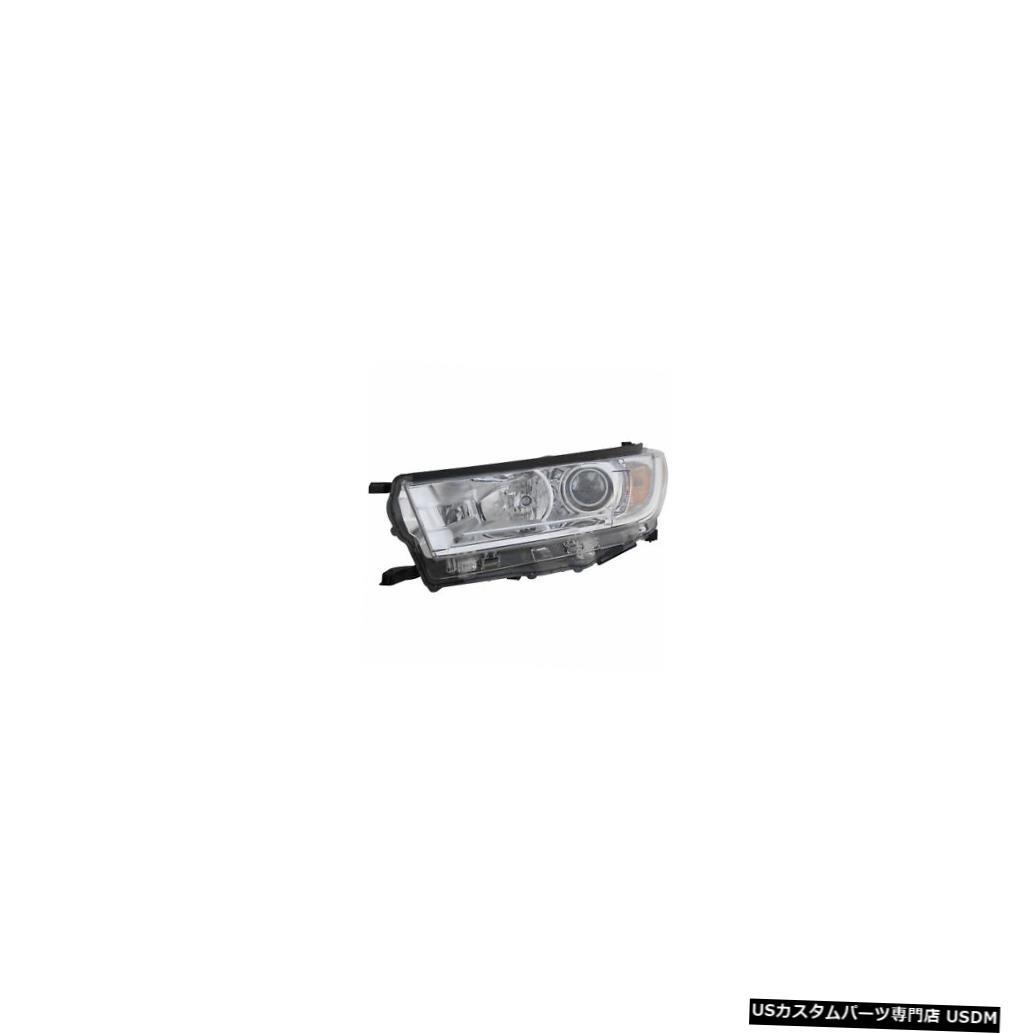 ヘッドライト 2017-2019トヨタハイランダードライバー左側サイドハロゲンヘッドライトランプ(DRLなし) 2017-2019 Toyota Highlander Driver Left Side Halogen Headlight Lamp w/o DRL