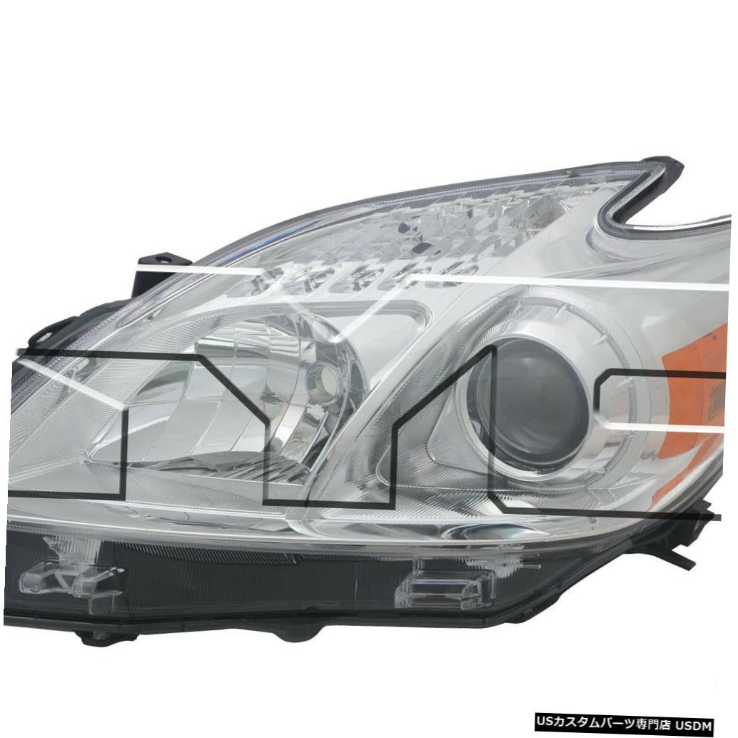 ヘッドライト 12-15トヨタプリウスハロゲン左ドライバーヘッドライトヘッドランプCAPA 12-15 Toyota Prius Halogen Left Driver Headlight Headlamp CAPA