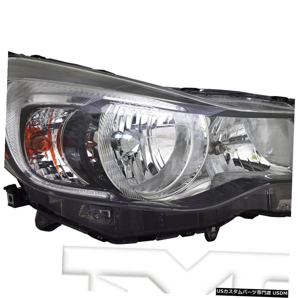 ヘッドライト 15-16スバルインプレッサハロゲン右助手席ヘッドライトヘッドランプNSFに適合 Fits 15-16 Subaru Impreza Halogen Right Passenger Headlight Headlamp NSF