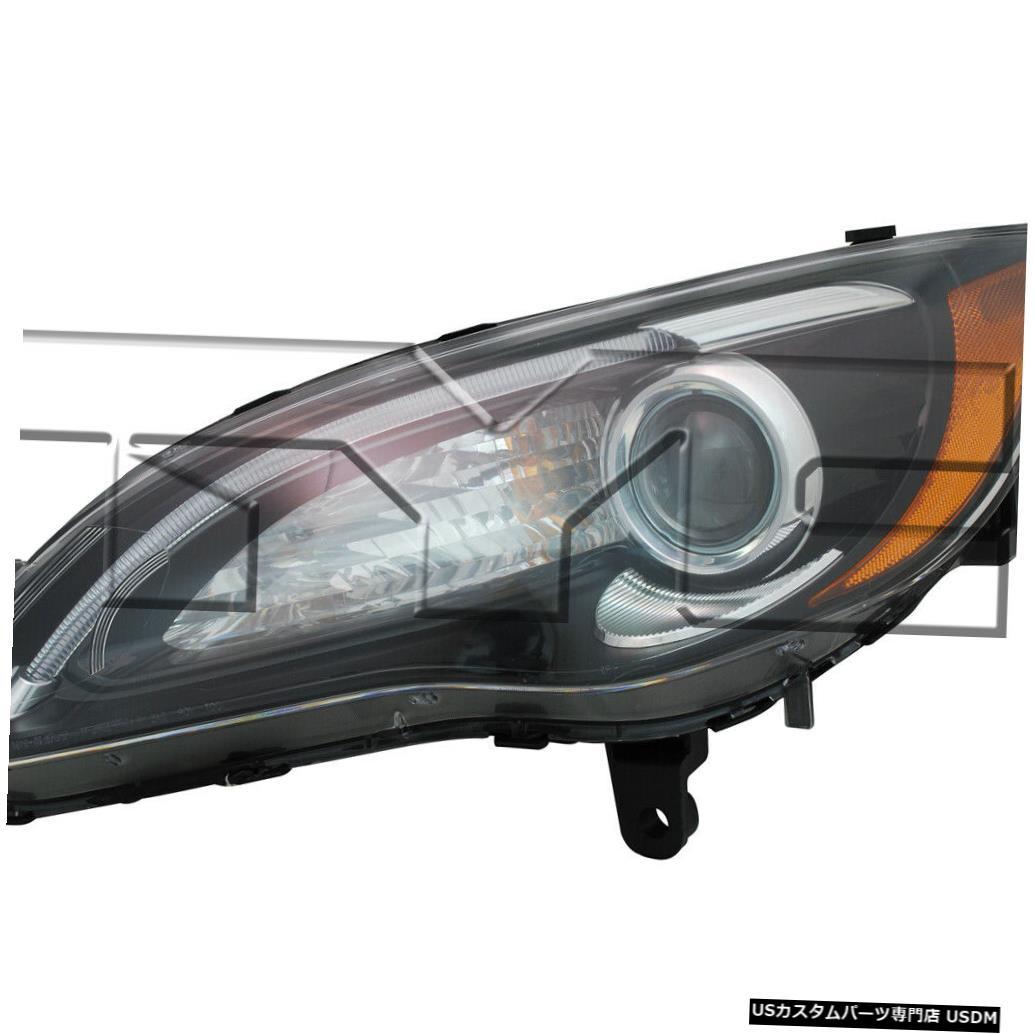 ヘッドライト 11-12クライスラー200(Sモデルブラックベゼル/クローム)ドライバーヘッドライト 11-12 Chrysler 200 (S Model Black Bezel w/ Chrome) Driver Headlight