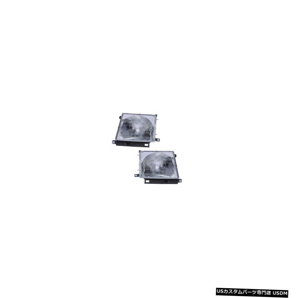ヘッドライト 1997-2000 Toyota Tacoma 2WD/4WD Driver & Passenger Headlights Lamps Pair Set