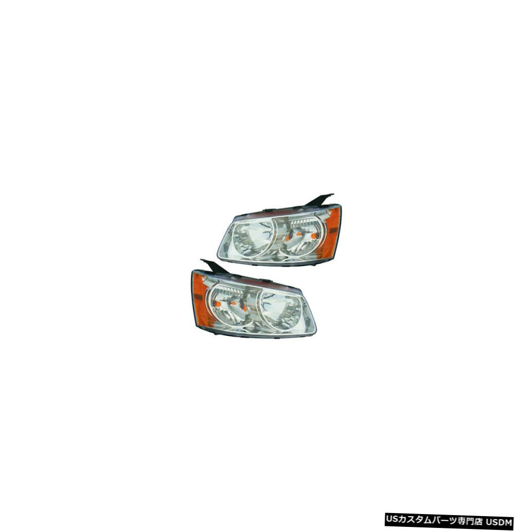 ヘッドライト 2006-2009 Pontiac Torrent Driver & Passenger Headlights Lamps Assembly Pair Set