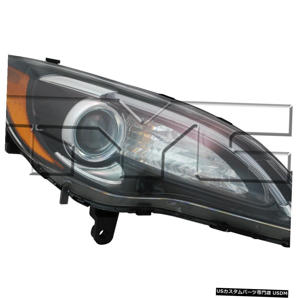 ヘッドライト 11-12クライスラー200(Sモデルブラックベゼルクローム付き)助手席ヘッドライト 11-12 Chrysler 200 (S Model Black Bezel w/ Chrome) Passenger Headlight