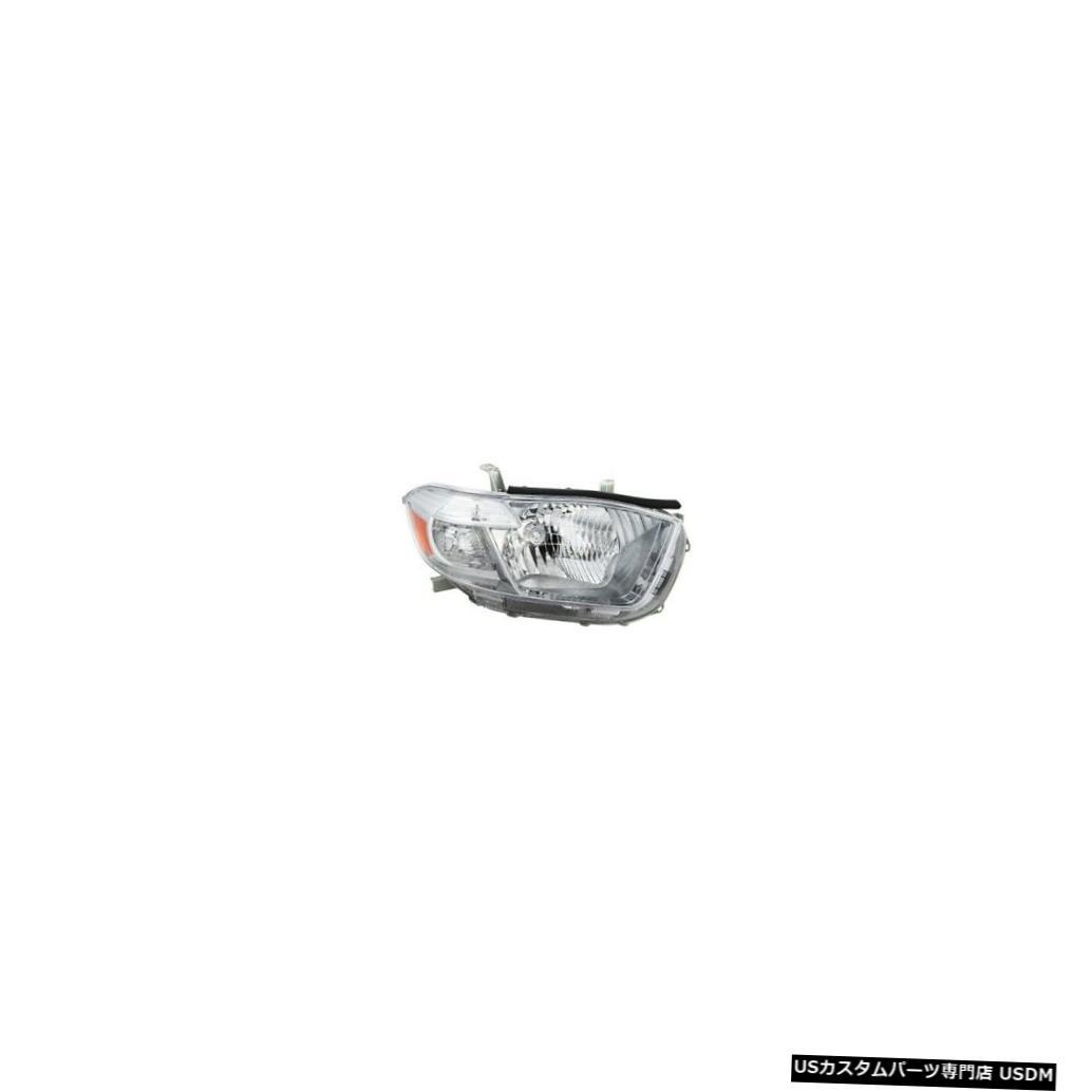 ヘッドライト 08-10トヨタハイランダースポーツヘッドライトユニット助手席側 08-10 Toyota Highlander Sport Headlight Unit Passenger Side