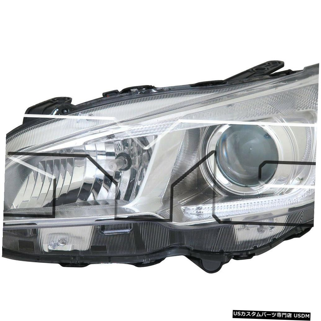ヘッドライト 15-18スバルWRXハロゲン左ドライバーヘッドライトヘッドランプNSFに適合 Fits 15-18 Subaru WRX Halogen Left Driver Headlight Headlamp NSF