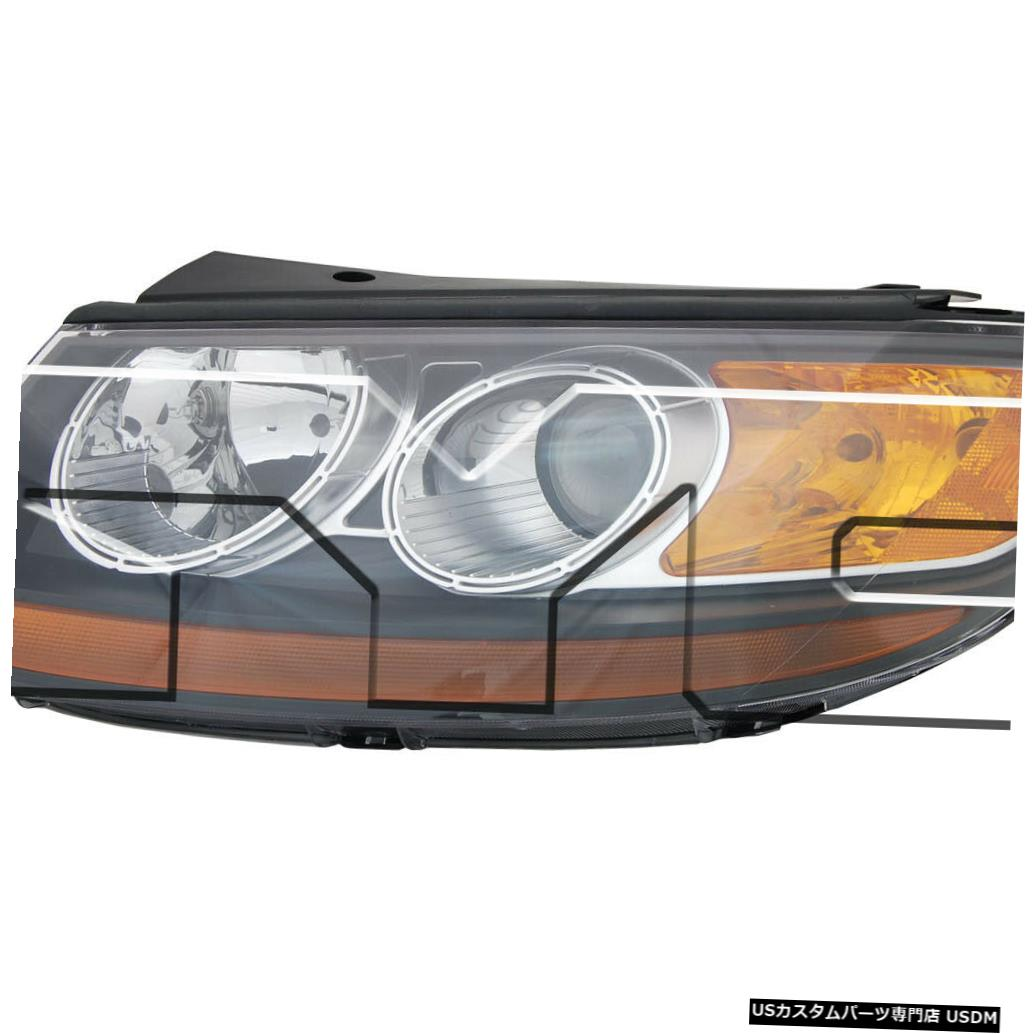 ヘッドライト 07-07ヒュンダイサンタフェに7-11-07ドライバーヘッドライトに適合 Fits 07-07 Hyundai Santa Fe to 7-11-07 Driver Headlight
