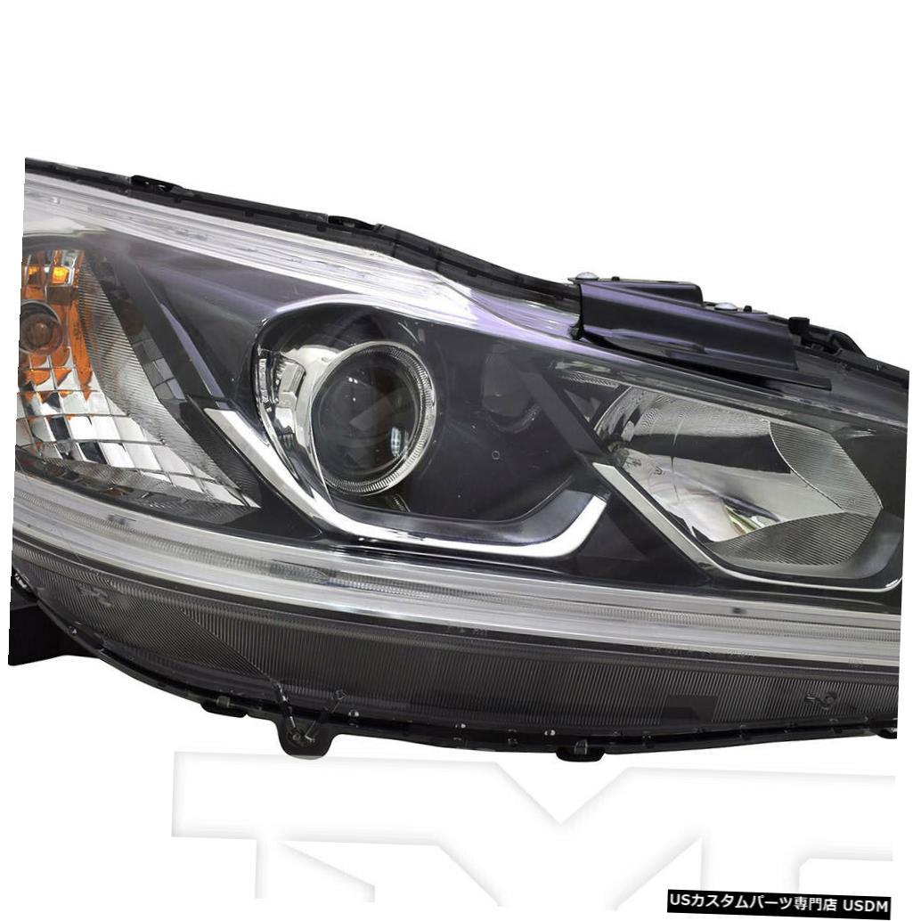 ヘッドライト 16-17ホンダアコードセダンLX右助手席ヘッドライトヘッドランプCAPA 16-17 Honda Accord Sedan LX Right Passenger Headlight Headlamp CAPA