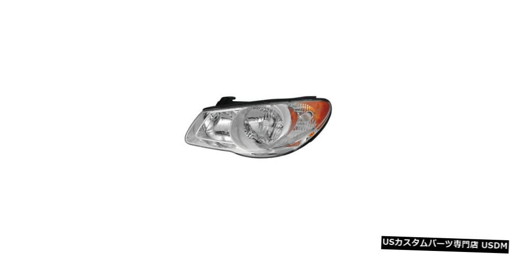 ヘッドライト 2007-2010ヒュンダイエラントラドライバー左側ヘッドライトランプアセンブリに適合 Fits 2007-2010 Hyundai Elantra Driver Left Side Headlight Lamp Assembly