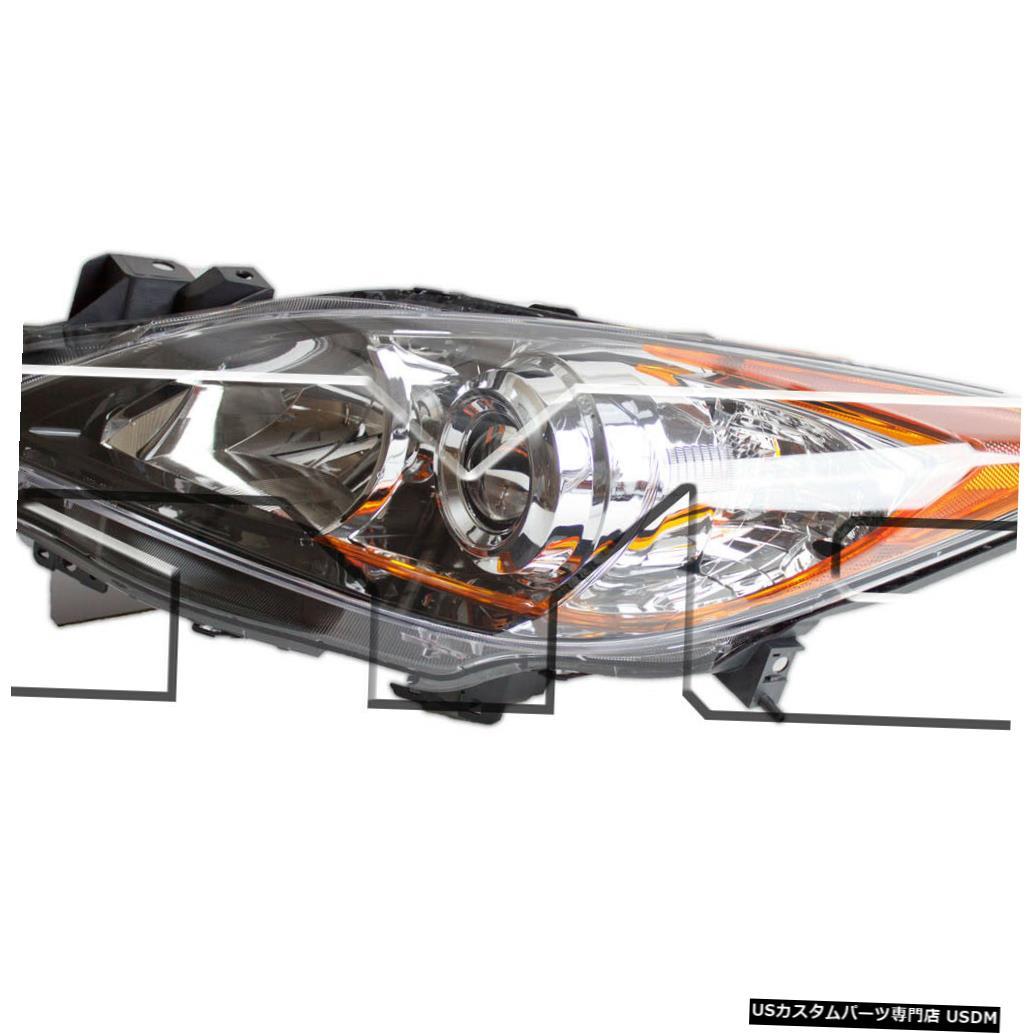 ヘッドライト 10-11マツダ3 / 12-13 5スピードトランスミッションハロゲンドライバーヘッドライトNSFに適合 Fits 10-11 Mazda 3/ 12-13 5 Speed Transmission Halogen Driver Headlight NSF