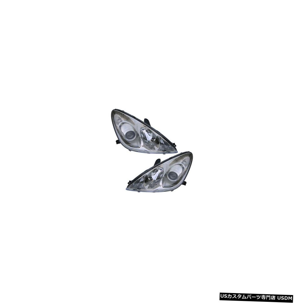 ヘッドライト 2005-2006 Lexus ES330 Driver & Passenger Side Non-HID Headlights Lamps Pair Set