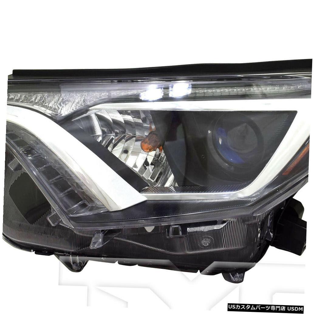 ヘッドライト 16-18トヨタRAV4 LE / XLE USビルド左ドライバーヘッドライトヘッドランプCAPS 16-18 Toyota RAV-4 LE/XLE US Built Left Driver Headlight Headlamp CAPA