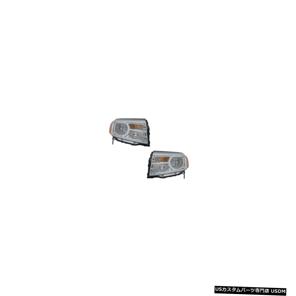ヘッドライト 12-15 Honda Pilot Driver & Passenger Side Halogen Headlights Lamps NSF Pair Set