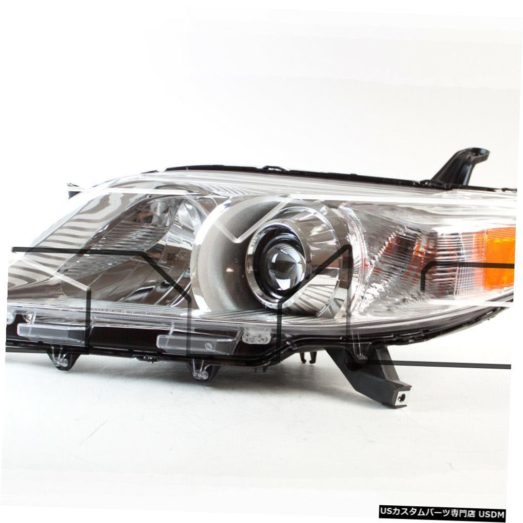 ヘッドライト 11-18トヨタシエナ非SEハロゲン左ドライバーヘッドライトヘッドランプNSF 11-18 Toyota Sienna Non-SE Halogen Left Driver Headlight Headlamp NSF