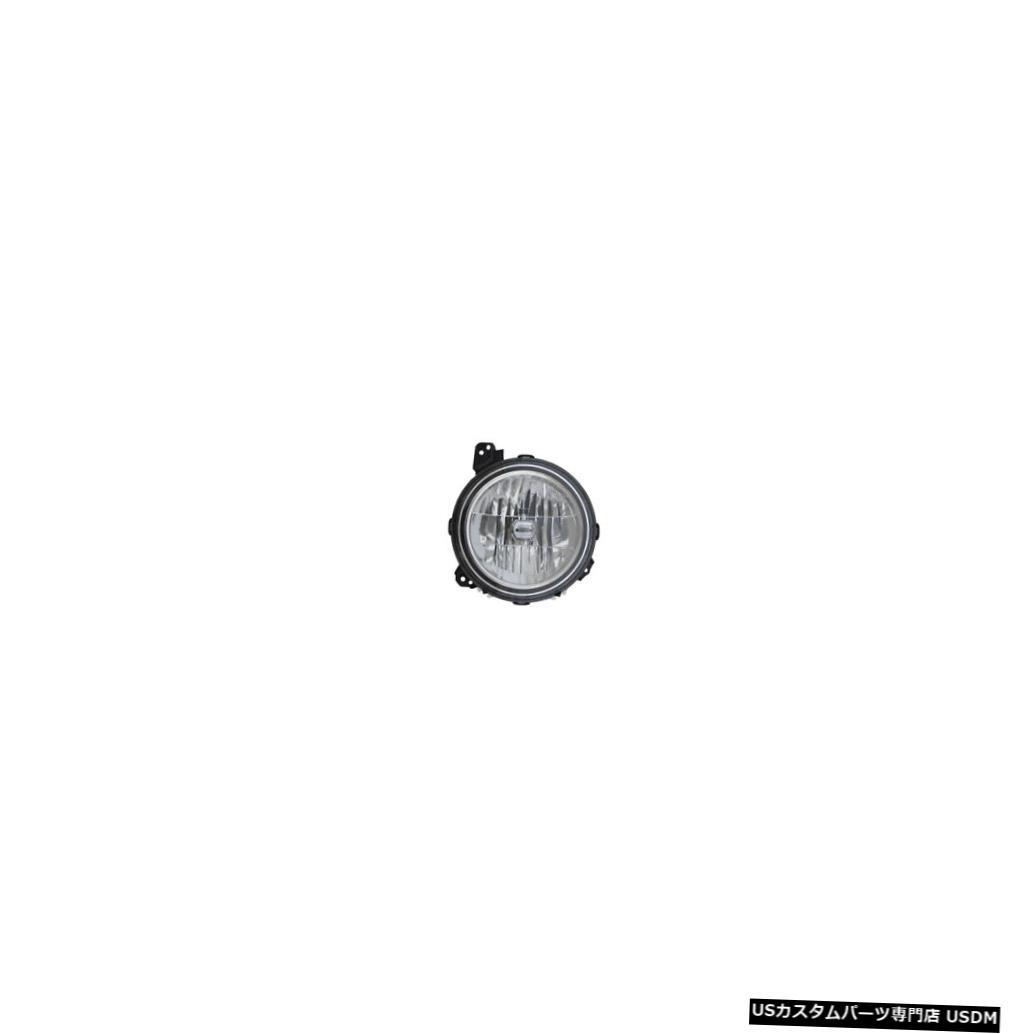 ヘッドライト 2018-2019ジープラングラーハロゲンヘッドライトフロントランプ右側の助手席側 2018-2019 Jeep Wrangler Halogen Headlight Front Lamp Right Passenger Side