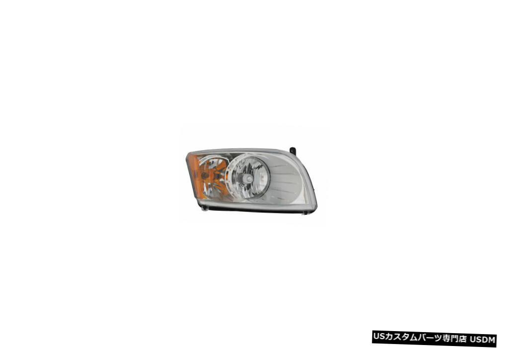 ヘッドライト 07-10ダッジキャリバーヘッドライトアセンブリ、レベリングサイド 07-10 Dodge Caliber Headlight Assembly w/o Leveling Passenger Side