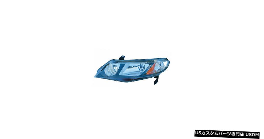 ヘッドライト 09-11ホンダシビックセダン/ 06-11ハイブリッドクリアパーキングレンズドライバーヘッドライトNSF 09-11 Honda Civic Sedan/06-11 Hybrid w/Clear Parking Lens Driver Headlight NSF