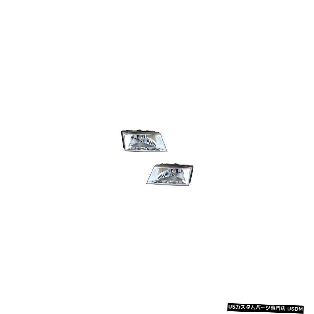 ヘッドライト 03-05 Mercury Grand Marquis Chrome Driver & Passenger Headlights Pair Set