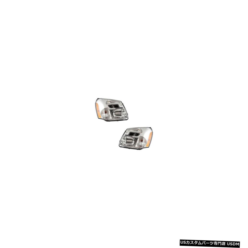 ヘッドライト 2005-2009 Chevrolet Equinox Driver & Passenger Headlights Lamps CAPA Pair Set
