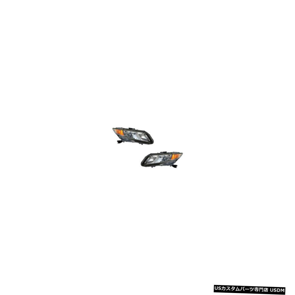 ヘッドライト 12-13 Honda Civic Coupe/Sedan Driver & Passenger Headlights Lamps NSF Pair Set