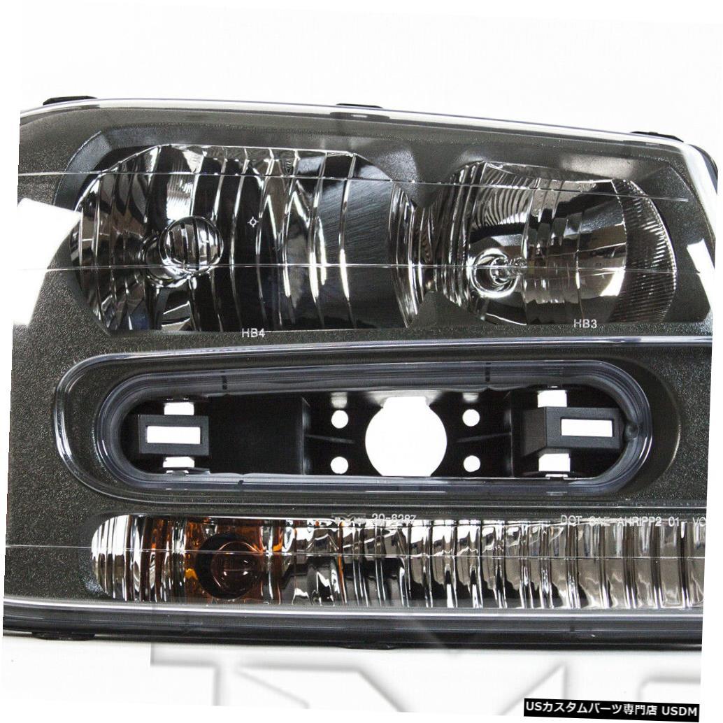 CAPA Chevy 02-09シボレートレイルブレイザーSS SS/02-07 Passenger LS右助手席ヘッドライトヘッドランプCAPA LS Headlamp Right ヘッドライト / Headlight Trailblazer 02-09 02-07