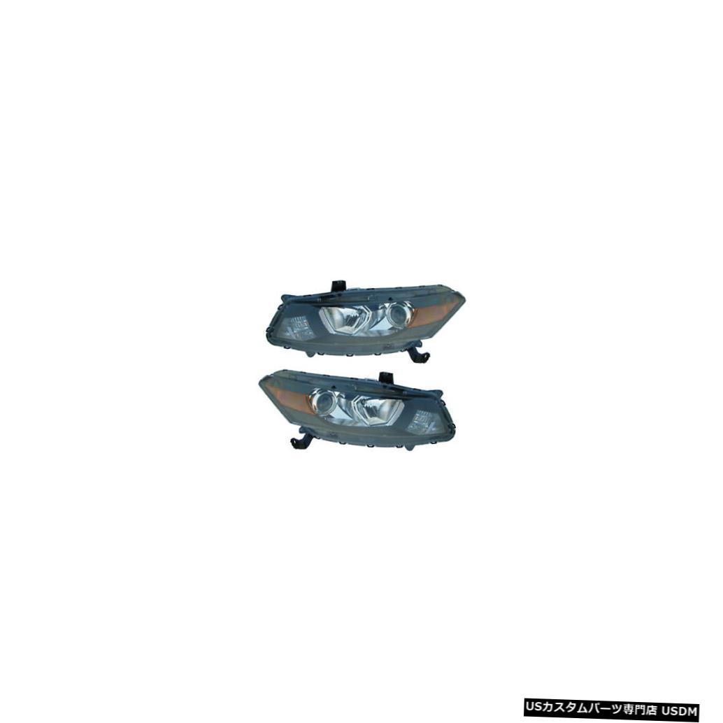 ヘッドライト 2008-2012 Honda Accord Coupe Driver & Passenger Side Headlights Lamps Pair Set