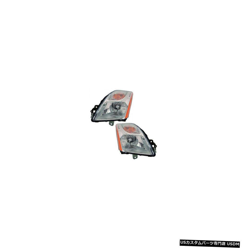 ヘッドライト Fits 10-11 Nissan Sentra 2.0L Base/S/SL Driver & Passenger Headlights Pair Set