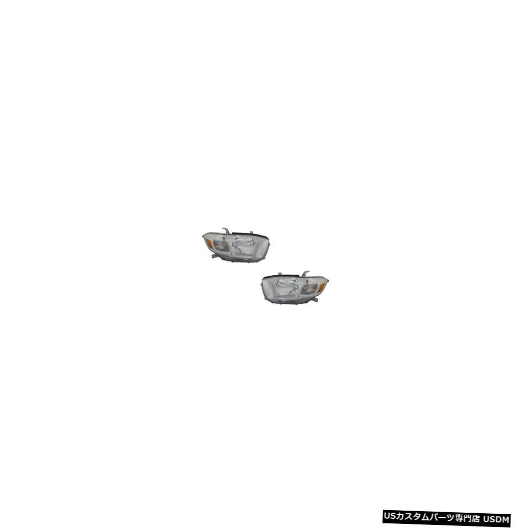 ヘッドライト 10 Toyota Highlander Base/Limited/SE US Built Driver & Passenger Headlights Pair
