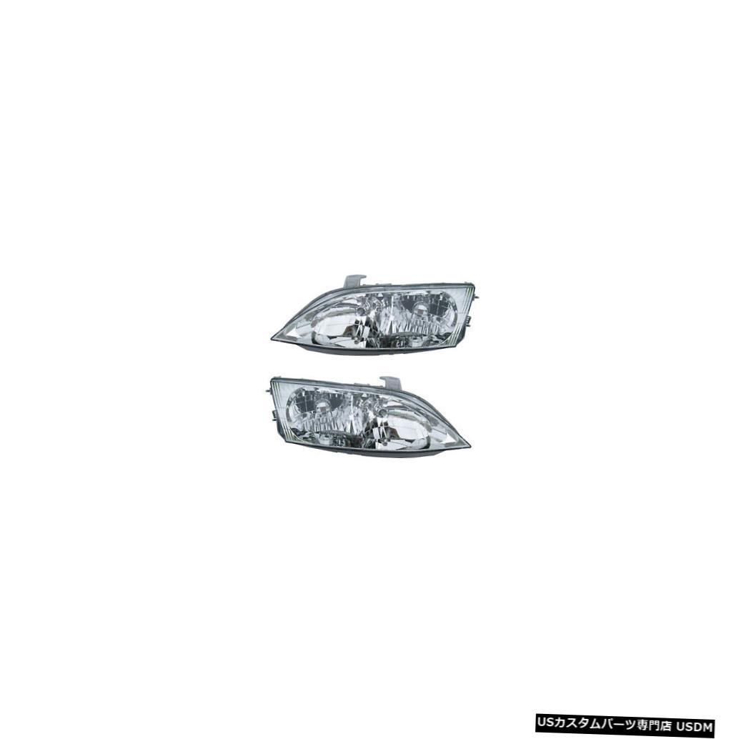 ヘッドライト 1997-2001 Lexus ES300 Driver & Passenger Side Headlights Lamps Assembly Pair Set