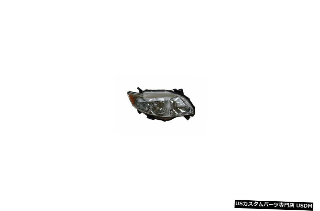 ヘッドライト 09-10トヨタカローラ(S XRS)助手席ヘッドライト 09-10 Toyota Corolla (S XRS) Passenger Headlight