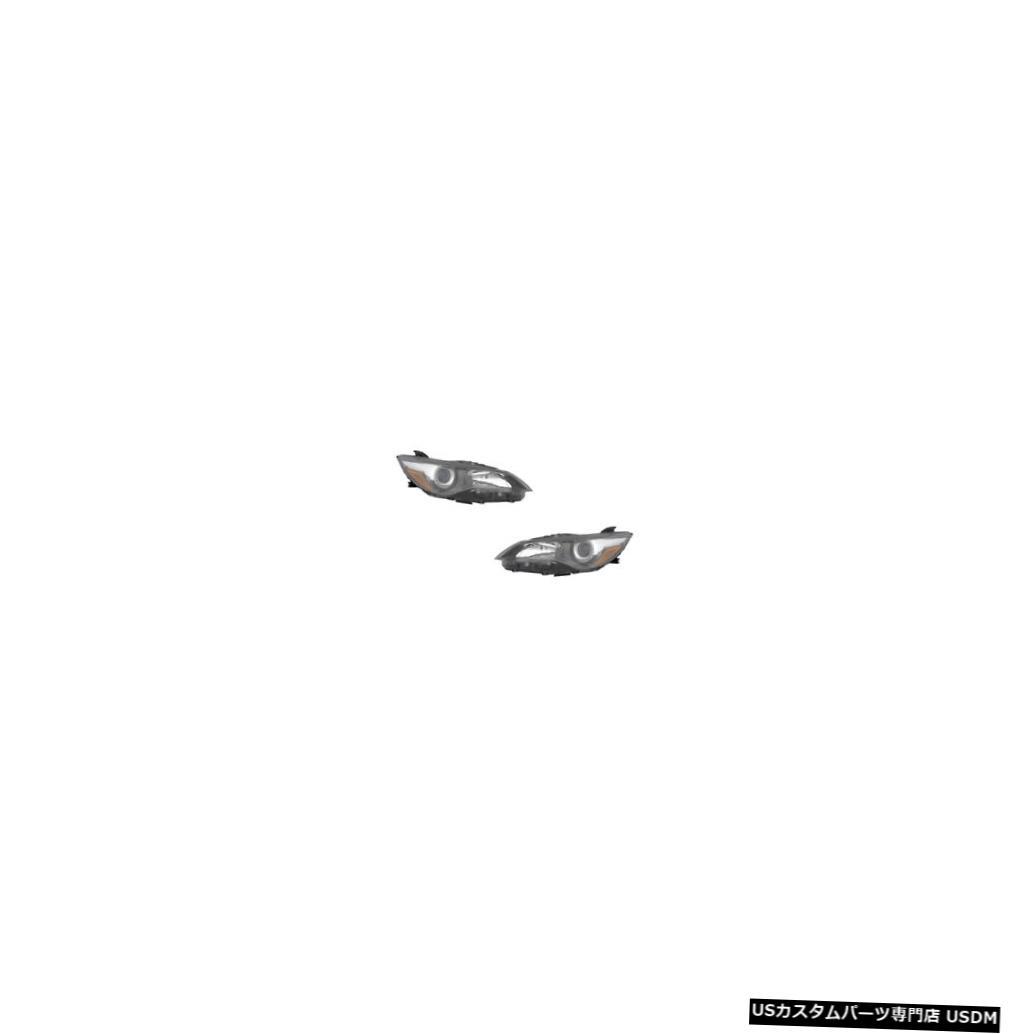 ヘッドライト 2015-2017 Toyota Camry SE/XSE Driver & Passenger Black Headlights Lamps Pair Set