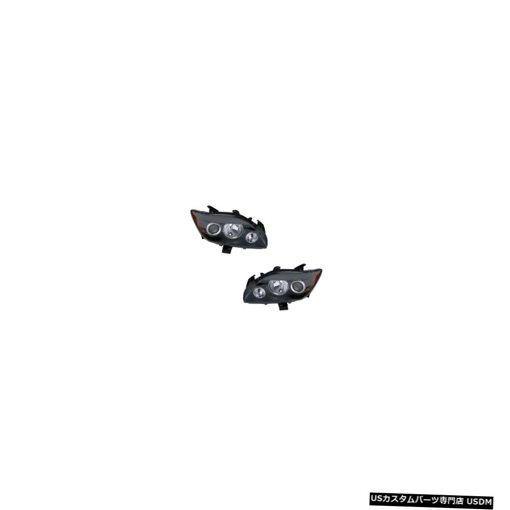ヘッドライト 08-10 Scion tC w/o Base Package Driver & Passenger Headlights Lamps NSF Pair Set